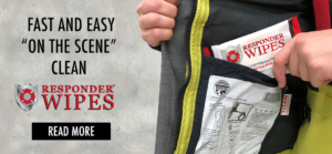 New! Get a fast and easy on the scene clean with Responder Wipes