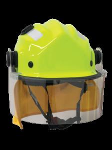 BR9 Wildland Firefighting Helmet - Standard Shell, with clip on visor & mesh cradle
