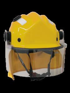 BR9 Cap Style Wildland Firefighting Helmet, with clip on visor & mesh cradle