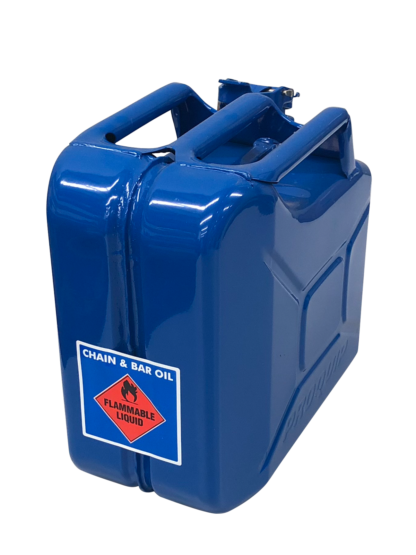 Jerry Can - Chain & Bar Oil - Bright Blue