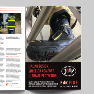 Jolly Firefighting Footwear arrives at Pac Fire